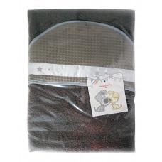 ANEL - badcape - Woezel en Pip - met wafel patroon - Bruin