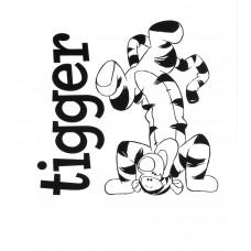 ANEL - Kant en klaar gordijn - Upside Down Tigger - 150x220