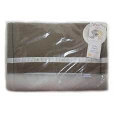 ANEL - Hoofdbeschermer klein - Woezel en pip - Wafelpatroon - Bruin - 30x160