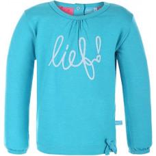 LIEF! - Shirt - Lange mouw - blauw - maat 104