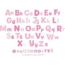 FUNTOSEE - Alfabet stickers voor aan de muur - Roze