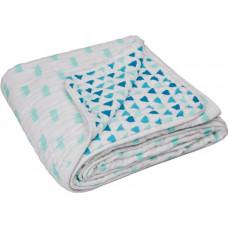 LÄSSIG - Deken - Cozy Blanket XL Little King & Queen boys - 120x120cm