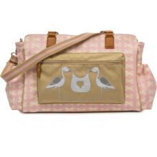 PINK LINING - Luiertas / Verzorgingstas - Twice as Nice - Pink and cream-bows