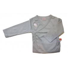 LIMO BASICS  - Overslag shirt - Camiseta - Kimono - Lange mouw - maat 56 - Licht grijs
