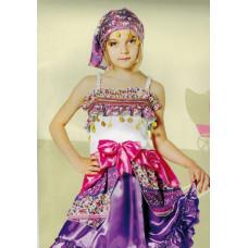 DREAMLAND - verkleedkleding - Gipsy - 2 delig - maat 125
