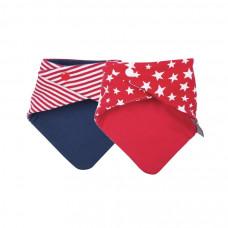CHEEKY CHOMPERS - Neckerchew - Red Stars & Stripes - 2 stuks