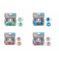 TOMMEE TIPPEE - Closer To Nature 2-pack Pure 3-9m Soothers Blue/green Design