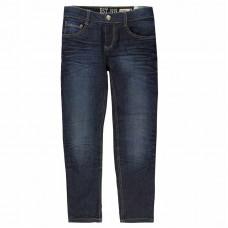 LEMMI - Donkerblauwe elastische jeans met slanke pijp