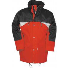 SIOEN SEPP zwart/rood - All Seasons Jacket, wind- en waterbestendig - M