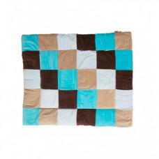 JOLLEIN Colourful Check - Boxkleed - Aqua / Taupe
